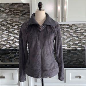 North face zip up jacket coat size small gray grey